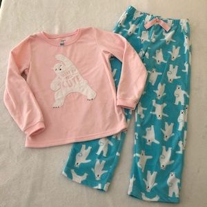 Carters fleece pajamas girls size 7